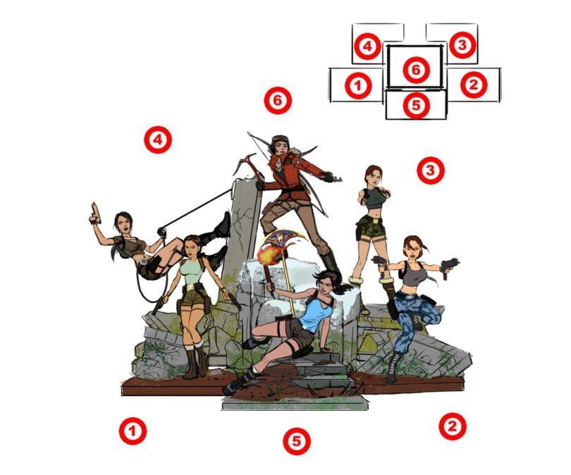 Primeiras informações das estátuas comemorativas de Tomb Raider